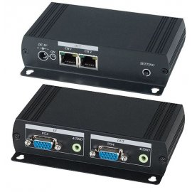 Prolongador VGA por CAT5 SHE VE02AL-2
