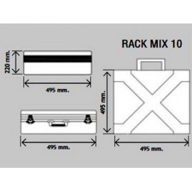 Maleta de transporte WORK Rack Mix 10