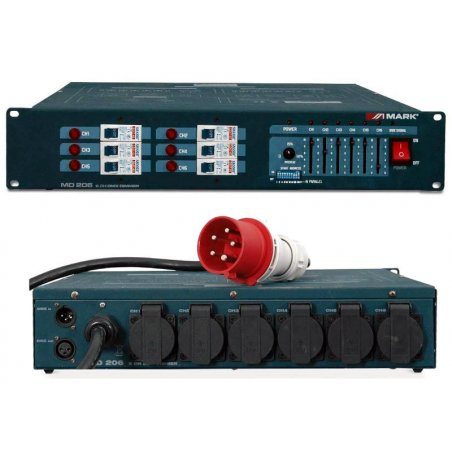 Dimmer DMX  6 canales  6x16A MARK MD 206