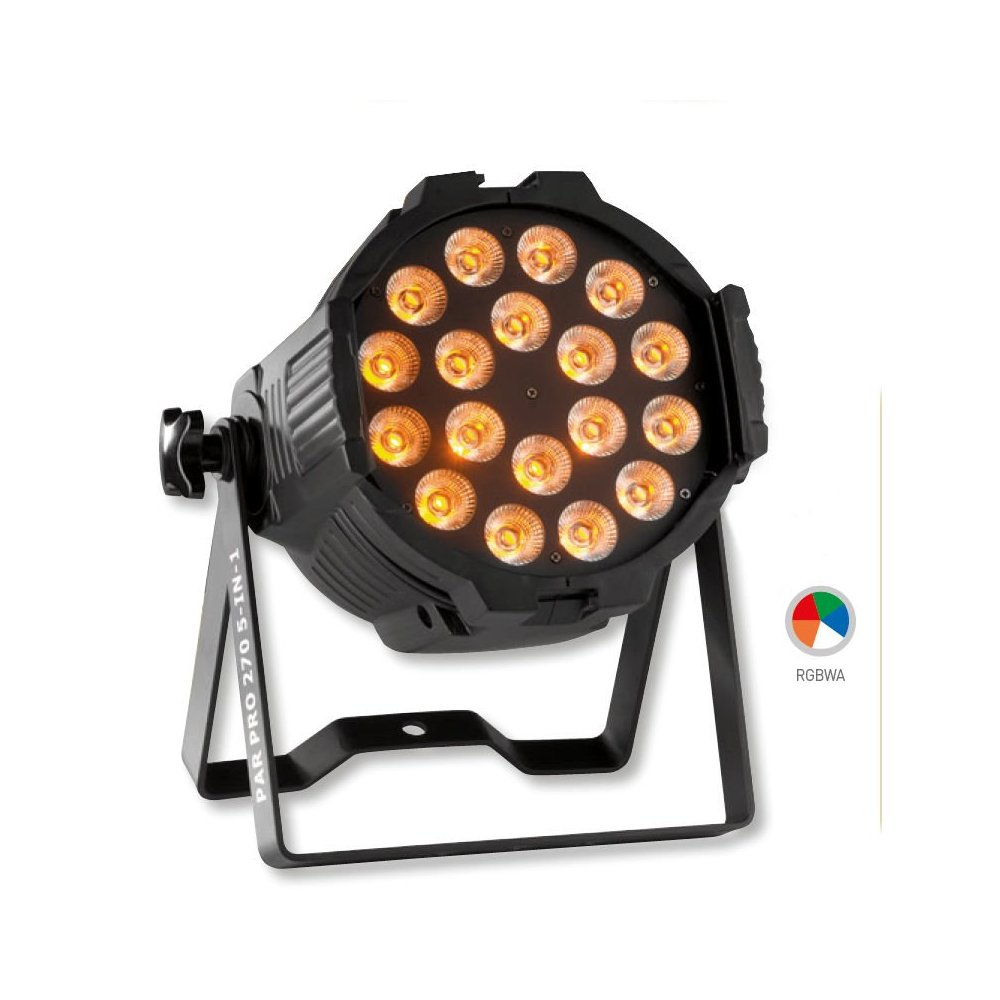 Foco de Led 270W RGBWA ProLight PAR PRO 270 5 IN 1 BDN